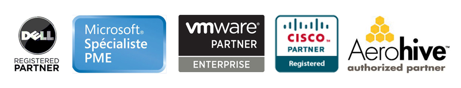 dell, aerohive, cisco, vmware, microsoft